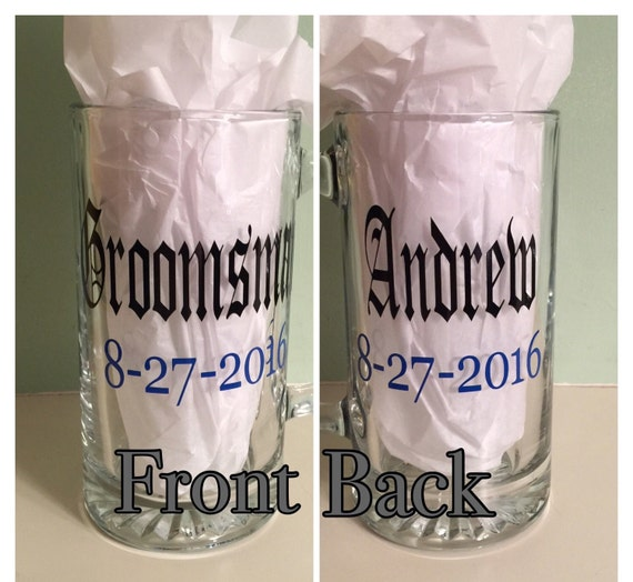 Personalized Beer Mugs Wedding Gift : ... Beer Mug Gift, Personalized Beer Mugs, Wedding Party Gifts, Groom Mug