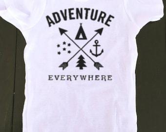baby boy onesie - Adventure Everywhere Onesie - Outdoor Onesie