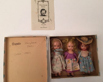 Vintage 1940s Story Book Dolls in box