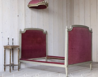 Eloquence Antique French Louis XVI Bed: 1850