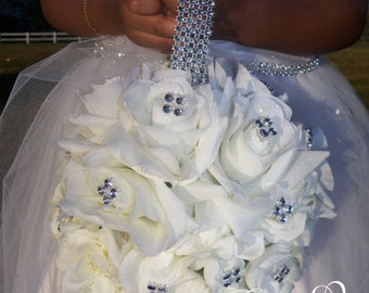 Flower Girl Rhinestone Flower Ball, Flowergirl  Ball, wedding flowers, wedding decoration, Wedding ball, flower ball, flower bouquet, gift