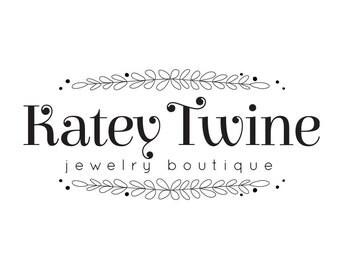 Premade logo boutique / premade logo design / typography logo / photography logo / jewelry logo / premade design small business logo