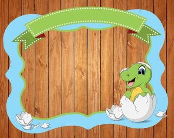 Dinasour  themed party photo frame