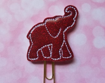 Full Elephant Clip  Paperclip Bookmark   Bookmark   Paperclip  Planner Bookmark  Paperclip Bookmark  Planner Clips  Planner Supplies  Feltie