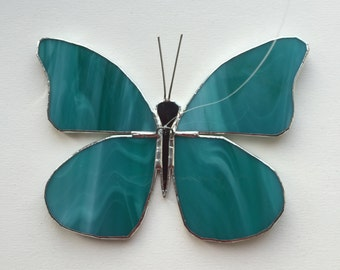 Turquoise butterfly in Tiffany technique