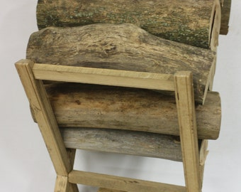 Rustic Fireplace Log Holder