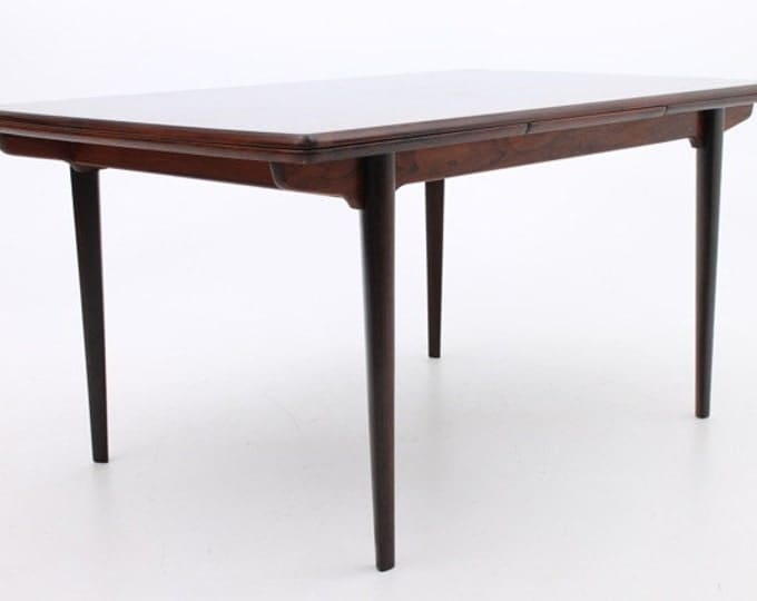Danish Mid-Century Modern Rosewood Dining Table by Slagelse Møbelfabrik