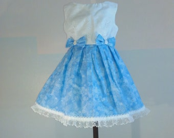 eyelet and bows twirl dress