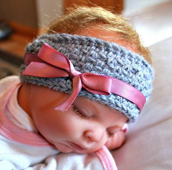 Baby Girl Espadrilles Crochet Pattern : Crochet baby Ear Warmer