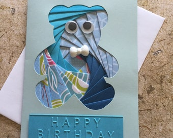 Handmade Teddy bear Birthday card