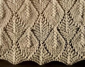 Falling Leaves Knitting Pattern : leaf knit pattern   Etsy