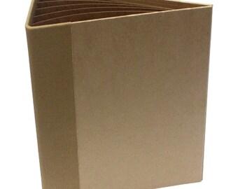 Heartfelt Creations Flip Fold Album Kraft- Empty Mini Album - Scrapbook Album - Kraft Flip Fold Album - Kraft Empty Scrapbook Mini Album