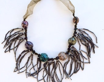 Primitive Style Beaded Necklace