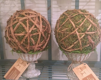 Vine Wrapped Topiary Ball