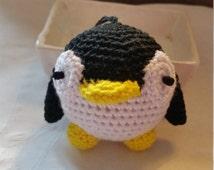 Penguin Key Chain, Crocheted Key Chain, Amigurumi Key Chain, Stuffed Penguin, Stuffed Amigurumi Penguin