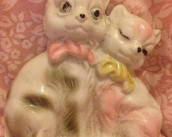 Vintage cats porcelain