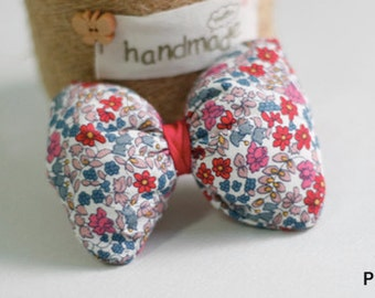 Pink Bow Floral Flower Pattern Hair Clip Girls Toddlers Baby