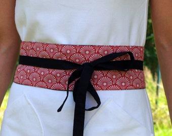 Red Japanese obi belt