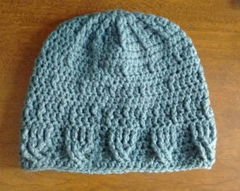Rippled beanie