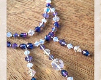 Purple Swarovski crystal necklace