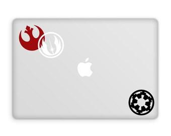 Star Wars Decals - Vinyl Decals / Rebel Alliance / Imperial / Jedi Order