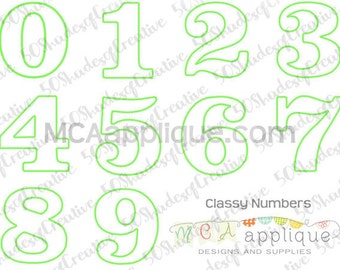 Classy Numbers Applique
