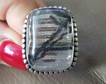 Dichroic Glass Ring- 9!