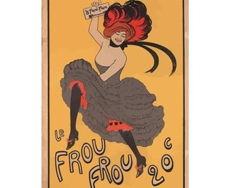 Le Frou-Frou Vintage French Canvas Poster Giclee Art Print Gallery Wrapped