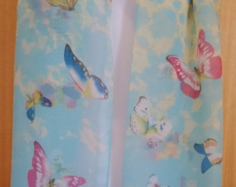 Pastel Blue Butterfly Scarf Shawl Wrap