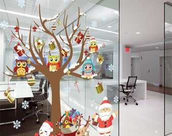 FREE SHIPPING! Christmas Decoration Wall Sticker; Christmas Decal; Santa Claus Wall Decal; Santa Claus; Decal; Home Decal; Holidays;