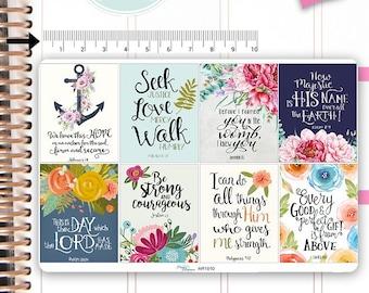 Bible Verses Stickers Motivational Sticker Fullboxes Stickers Planner Stickers Erin Condren Decorative Stickers Live Planner NR1010