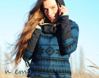 """Wool hoodie """"Wind breaker"""""""