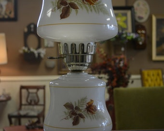 Floral Hurricane Lamp