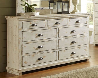 Distressed custom made dresser