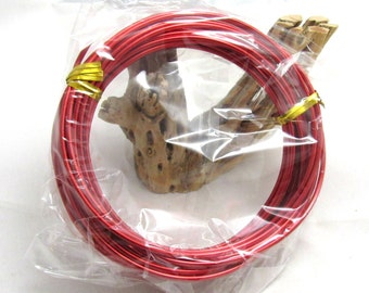1 Roll  2mm Aluminum Wire 6m Red (B90d4)