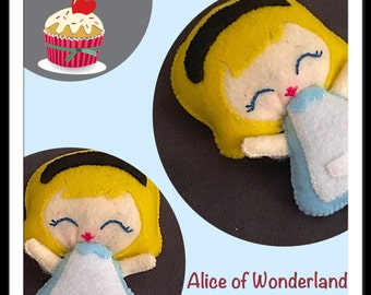 Alice in Wonderland felt plush ~hand sewn with love