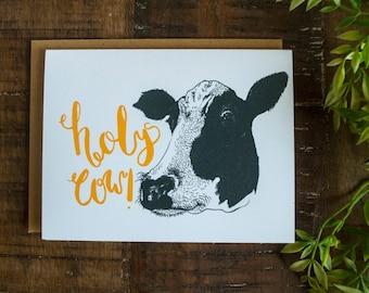 Holy Cow Birthday Card, Happy Birthday Card, Cow Birthday Card, Birthday card, Funny birthday card