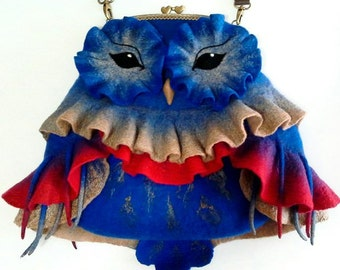 "Felted bag ""Owl"""