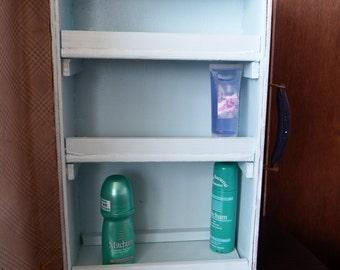 Bathroom / Medicine Cabinet made foirm Antique 30's suitcase 2
