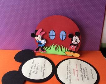 Mickey Mouse handmade invitations
