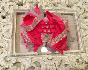 Over the top cupcake bow clip