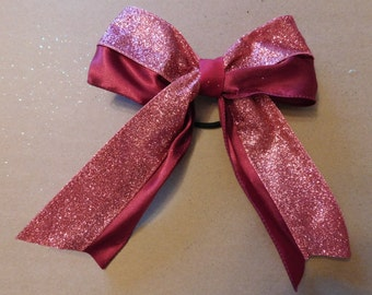 Maroon satin ribbon with Light Maroon glitter