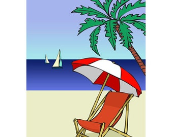 Set of 3 Beach Paradise Note Cards with Envelopes!