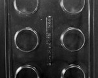 Plain Oreo Cookie Mold 6 Compartment