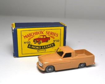Moko Lesney Matchbox Number 50, Commer Pick Up Truck, Original Matchbox Toy, Mint Condition, 1950's Collectible Toys, Lesney, England