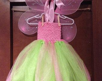 Tinkerbell costume, Tinker bell costume, Fairy Tutu Dress,  Tinker Bell Tutu Dress, Tinkerbell Tutu Dress, Fairy Costume, Tinker Bell tutu