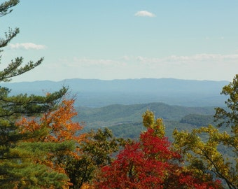 North Carolina mountains, view from the Blueridge Parkway,  Photograph, 8x10