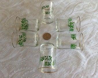 6 Irish Shamrock Shot Glasses- BRAND NEW
