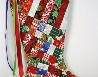 Handmade Patchwork Christmas Stocking (item RB164)
