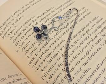 Black & Violet Butterfly Bookmark - Segnalibro con farfalla nera e viola